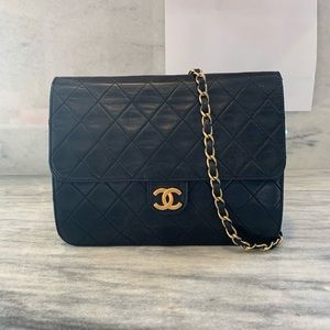 Chanel classic single flap bag - vintage